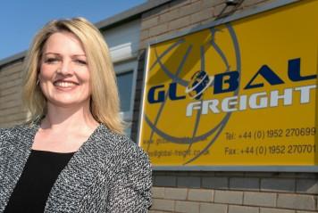 Nicole Howarth and Anton Gunter of Global Freight.