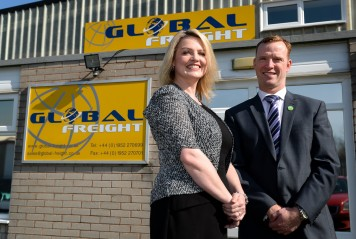 Nicole Howarth and Anton Gunter of Global Freight.